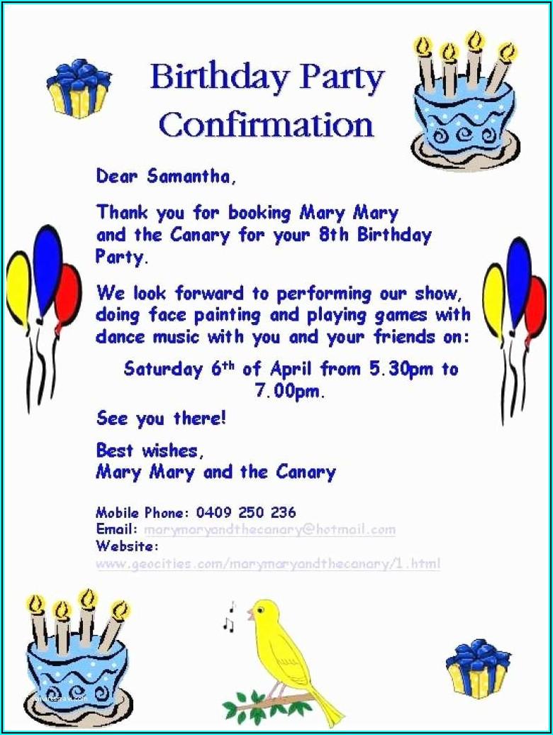 Funny Birthday Invitation Sample