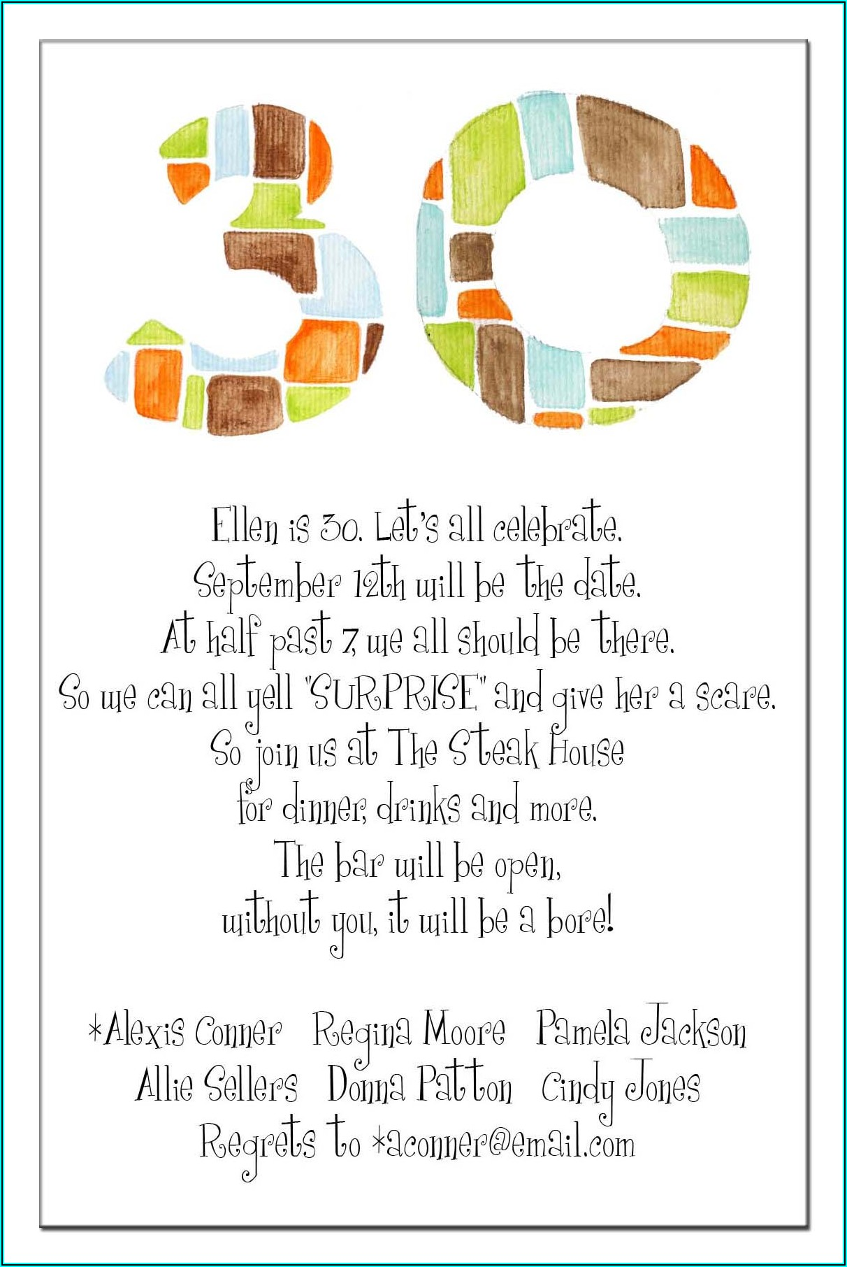 Funny Birthday Invitation Wording 21st