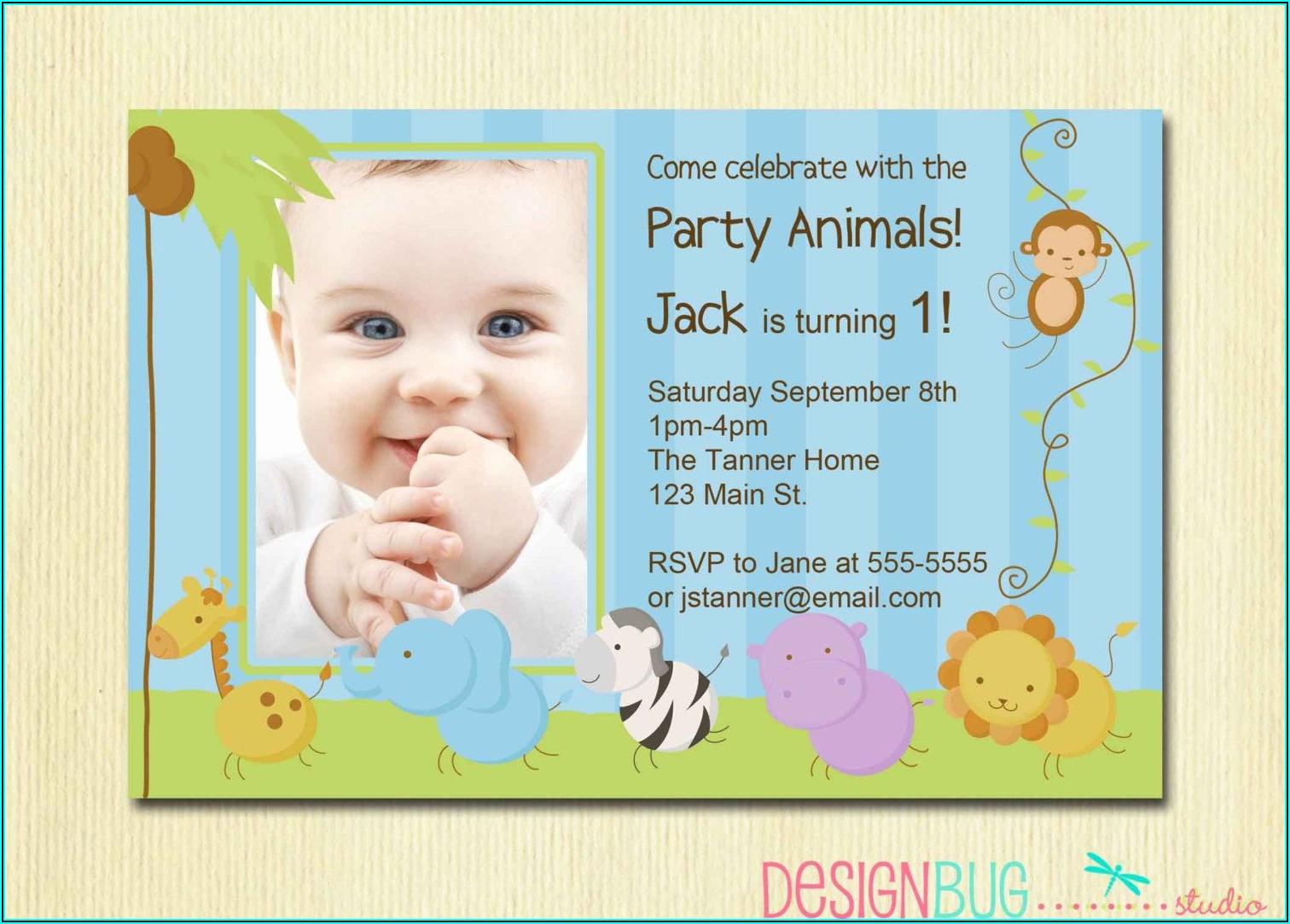 Funny Birthday Invitation Wording For Babies