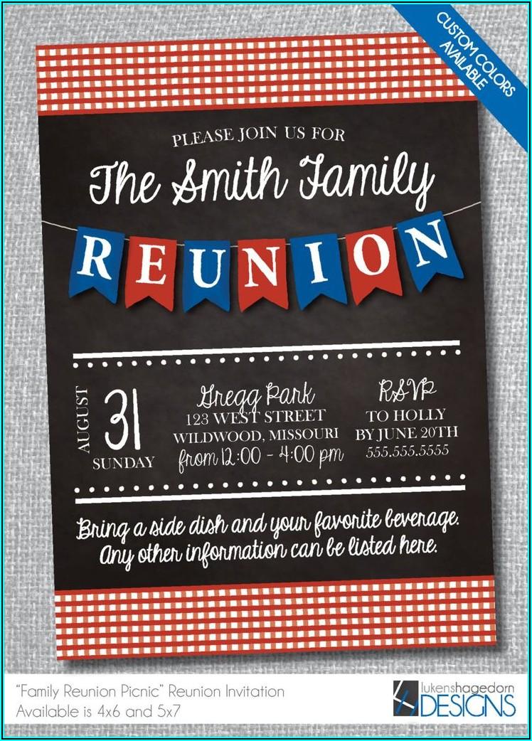 Funny Family Reunion Invitation Wording Ideas
