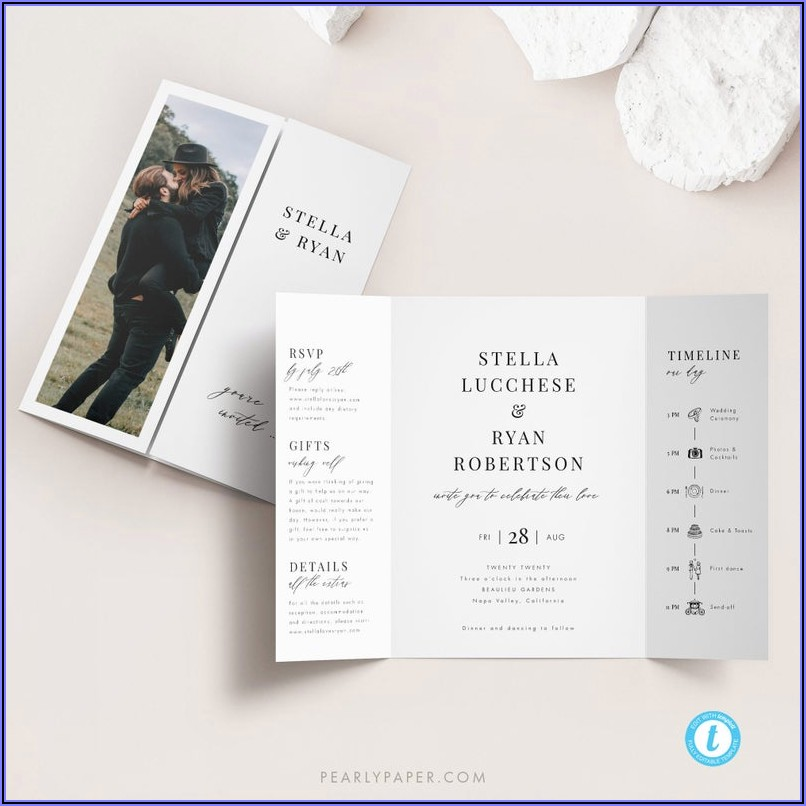 Gatefold Wedding Invitation Template