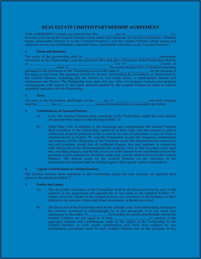 General Partnership Agreement Template Uk