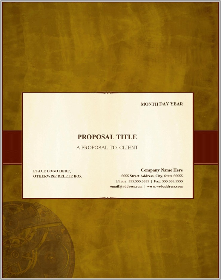 Generic Business Proposal Template
