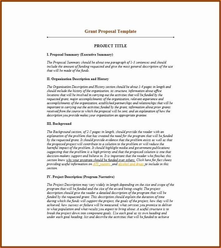 Grant Proposal Sample Non Profit
