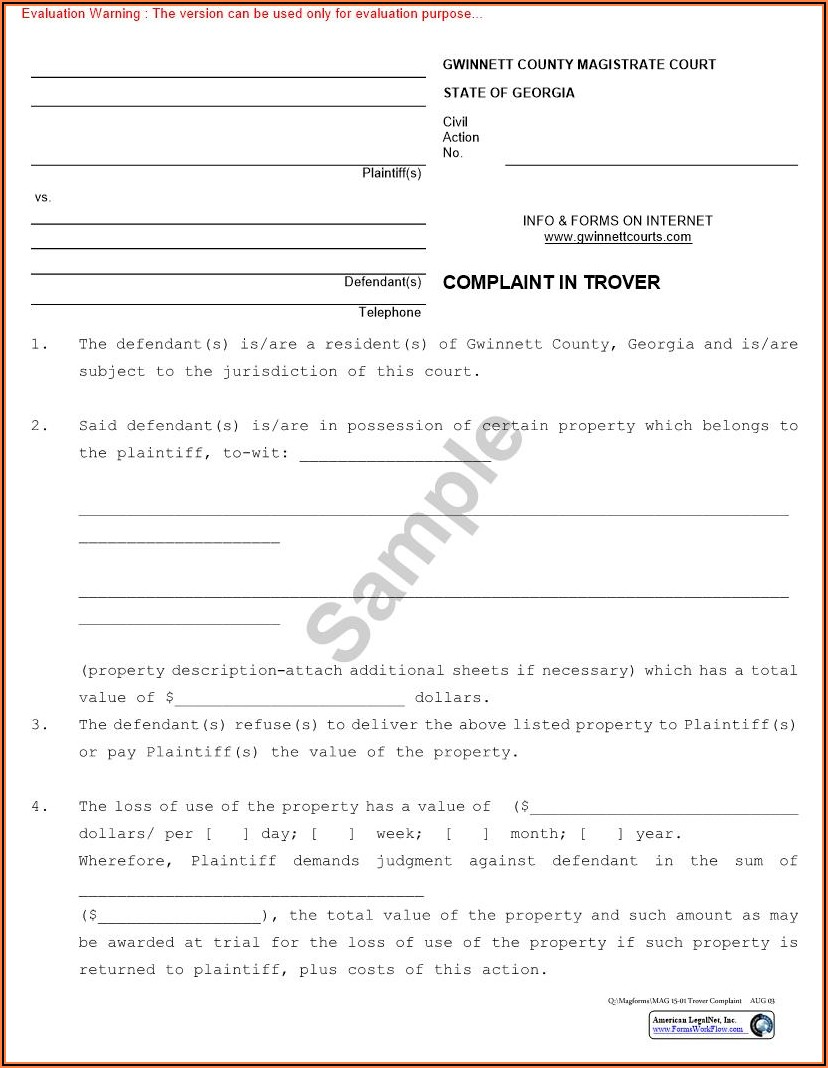 Gwinnett County Magistrate Court Forms