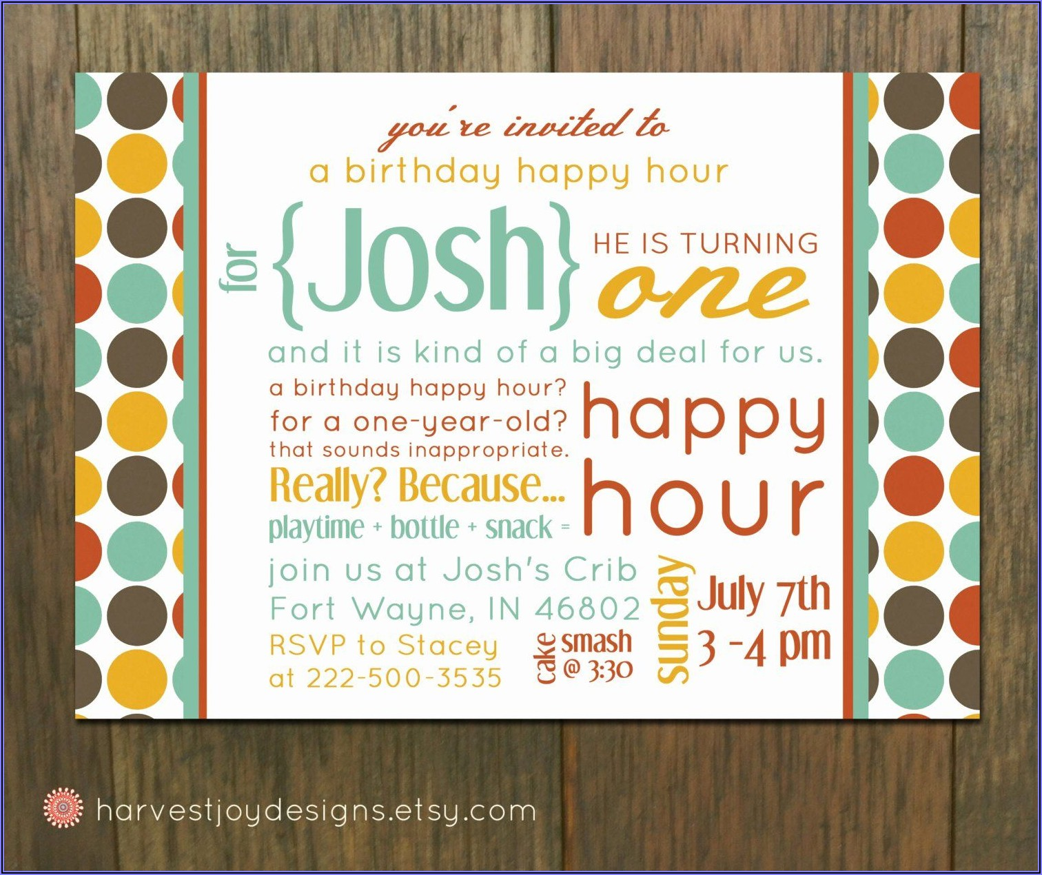 Happy Hour Announcement Template