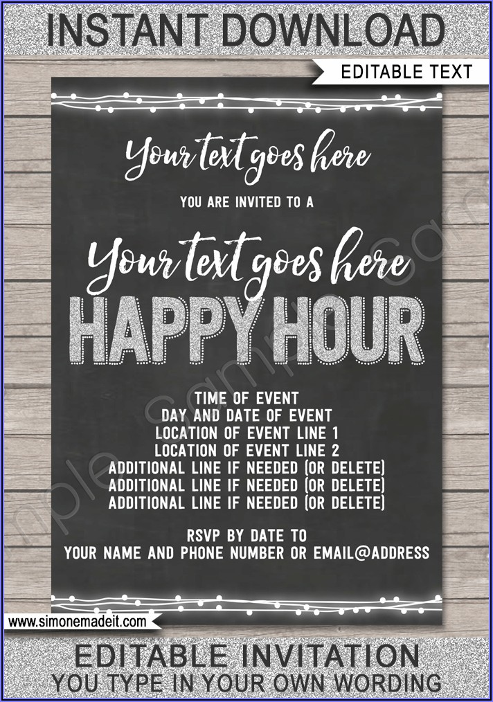 Happy Hour Email Invite Template