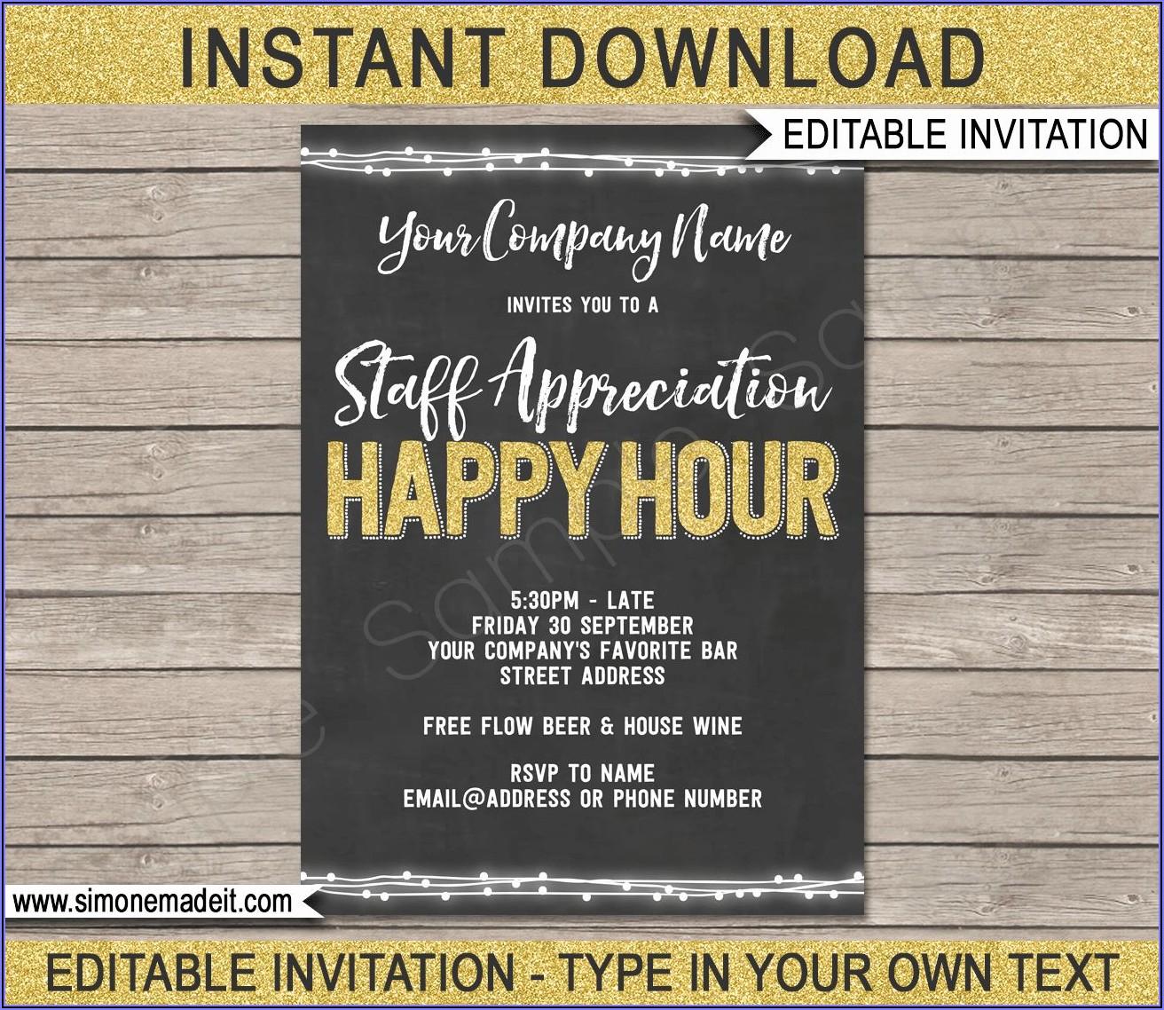 Happy Hour Invite Template Free