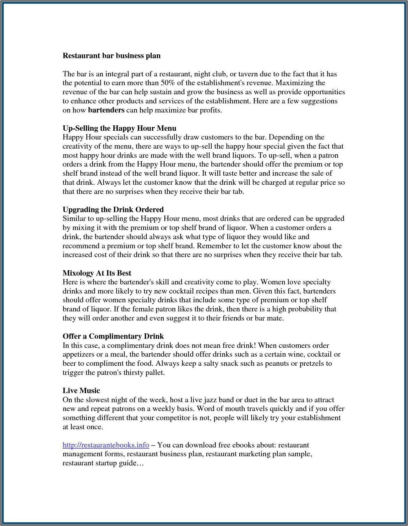 Health Coach Business Plan Sample