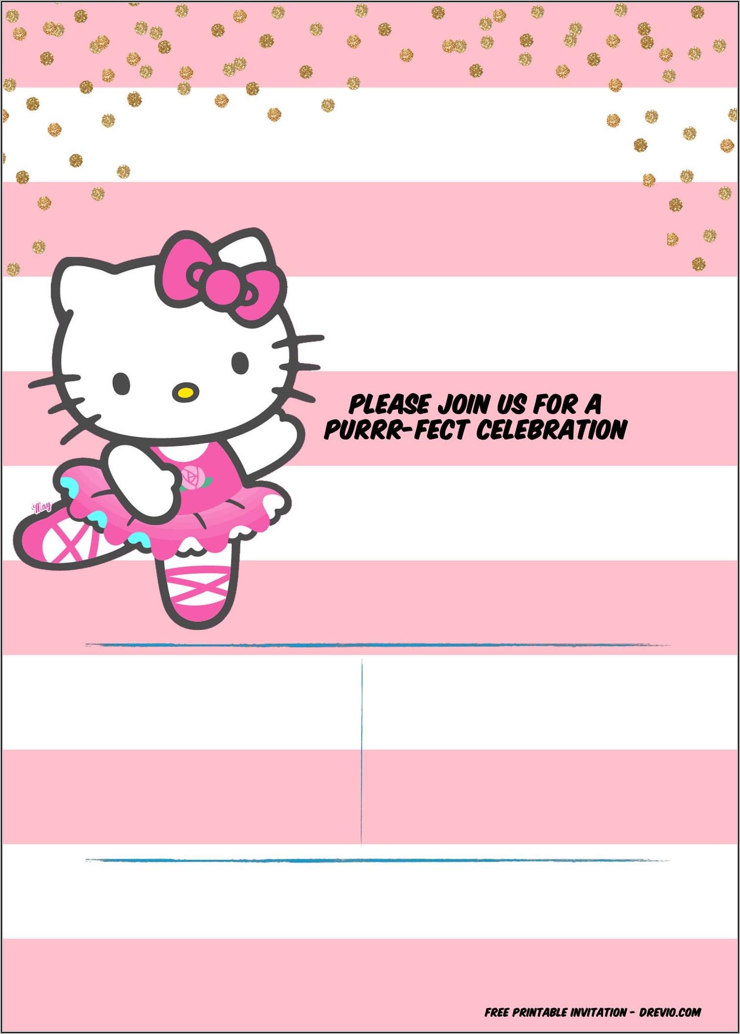 Hello Kitty Birthday Invitation Template Free Download