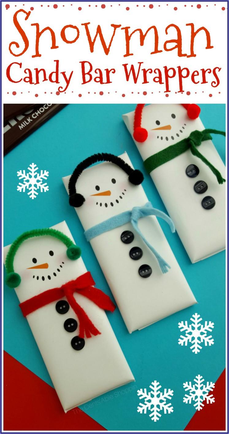 Hershey Snowman Candy Bar Wrapper Template