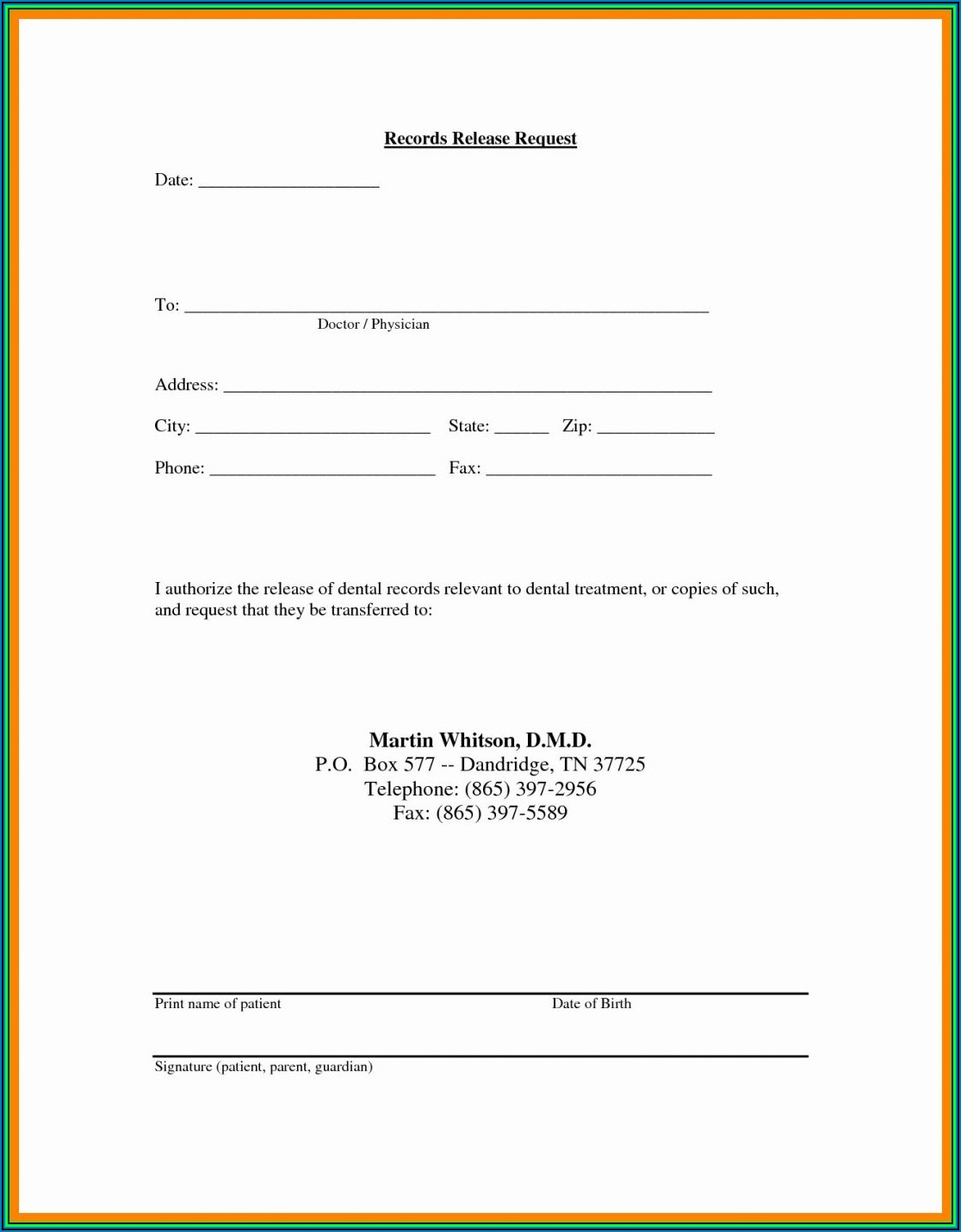 Hipaa Compliant Medical Authorization Form Online