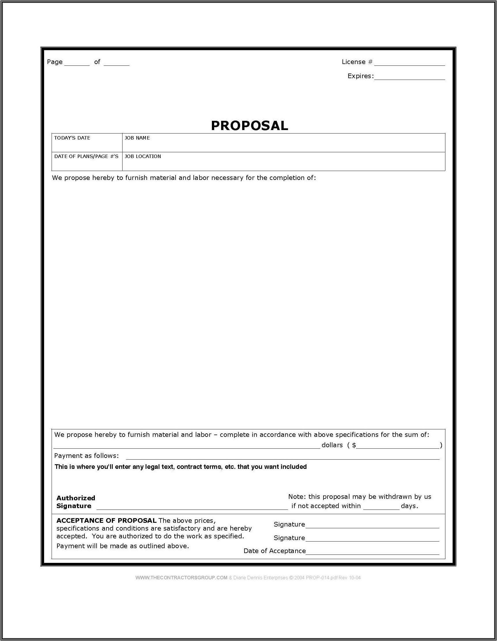 Home Construction Proposal Templates