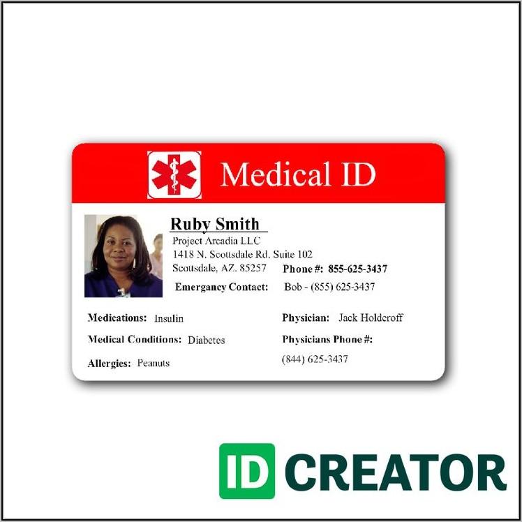 Hospital Id Badge Template