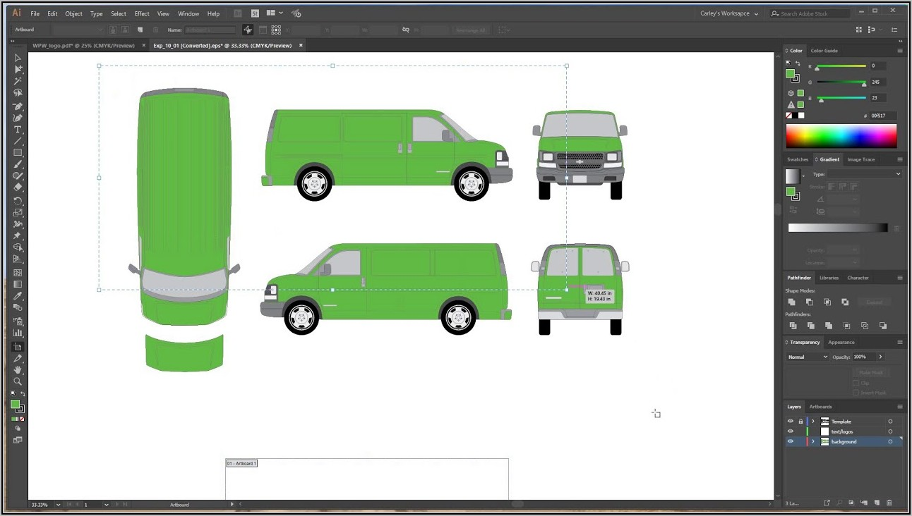 How To Create Vehicle Wrap Templates In Photoshop