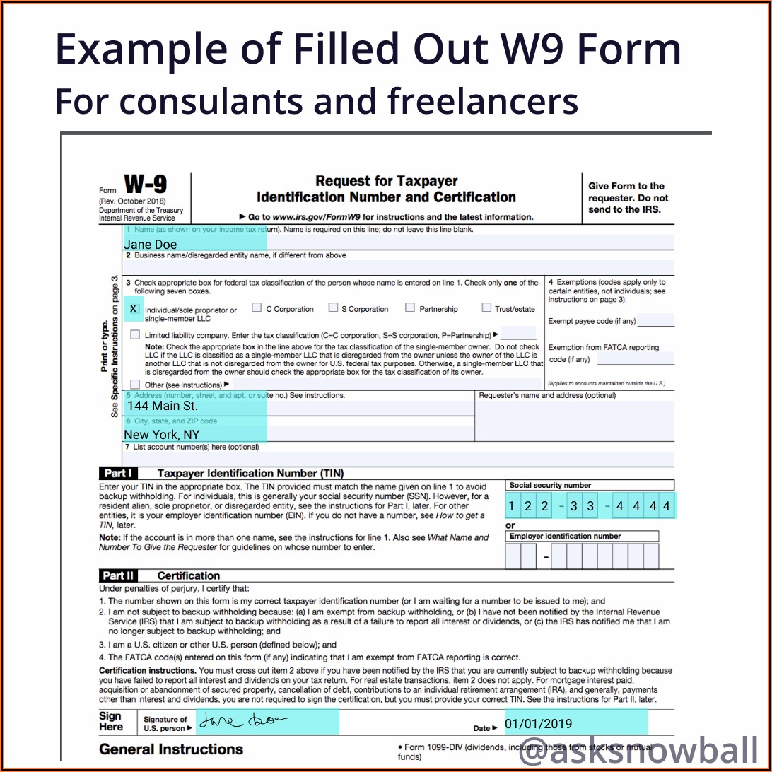 How To File A W 9 Tax Form