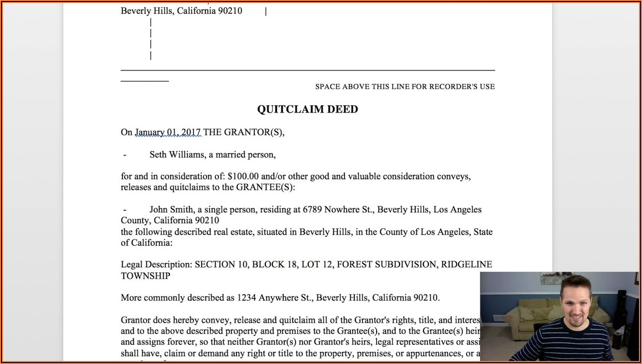 How To Fill Up Quit Claim Deed Form
