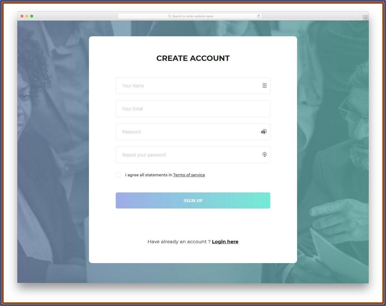 Html Registration Form Templates Free Download