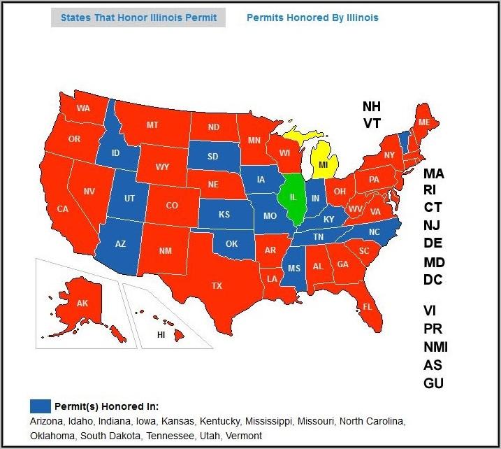 Illinois Ccw Reciprocity Map
