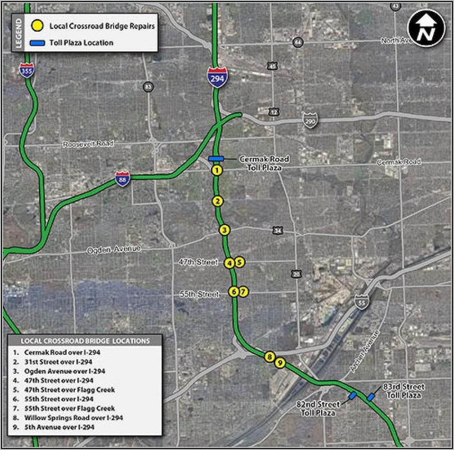 Illinois Tollway 490 Map