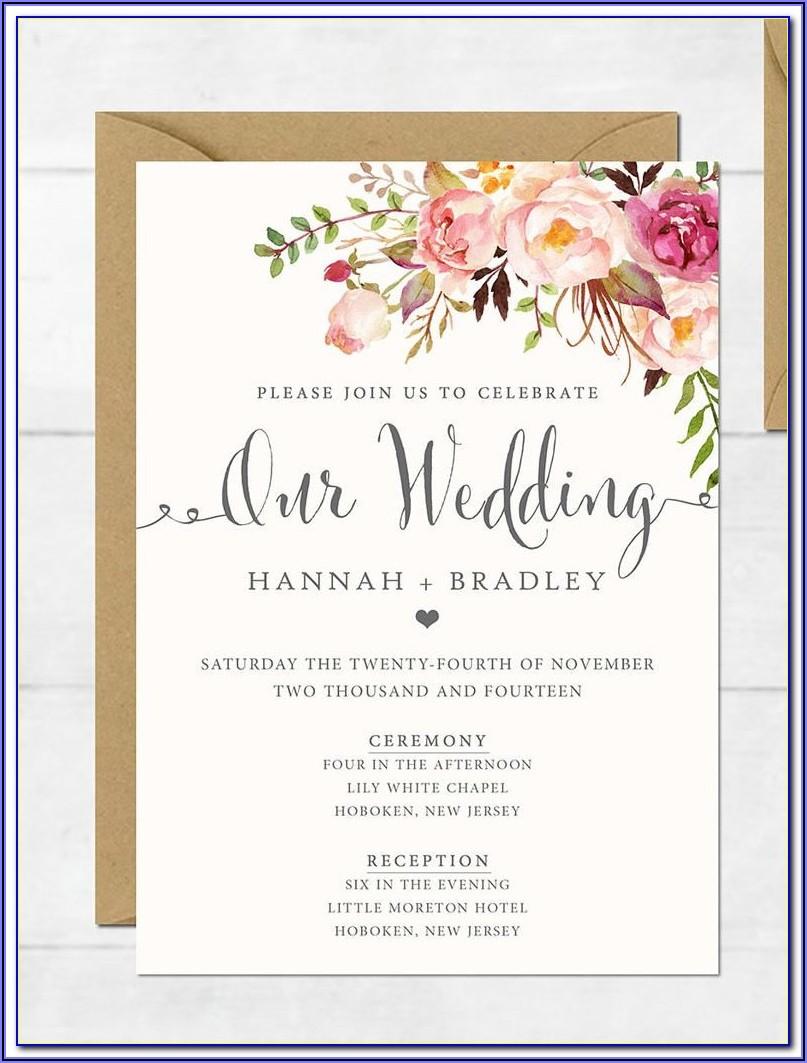 Indian Wedding Reception Invitation Templates