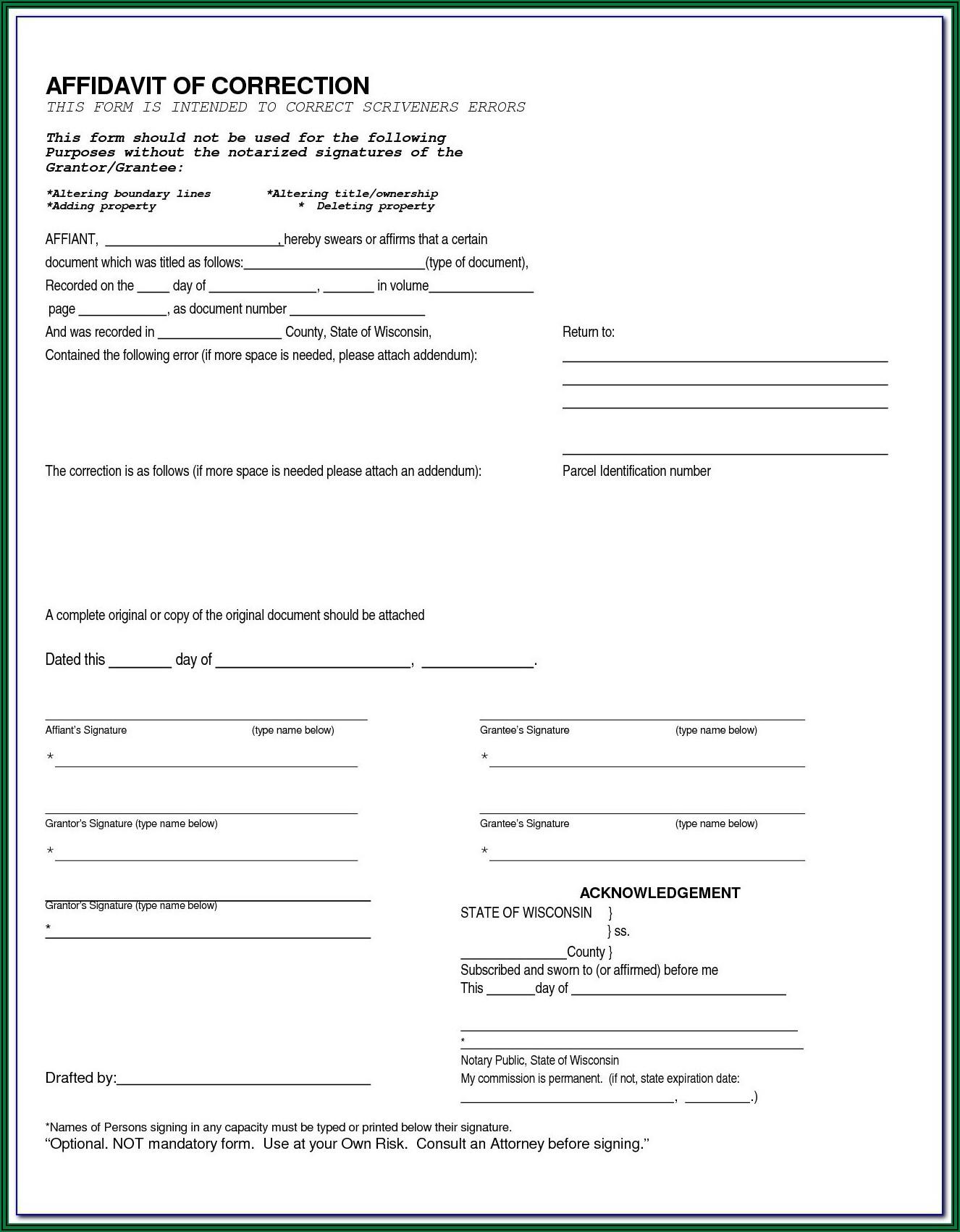 Joint Tenancy Deed Form Florida