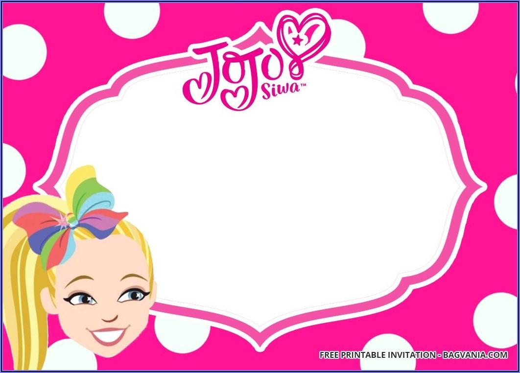 Jojo Siwa Invitations Templates Free