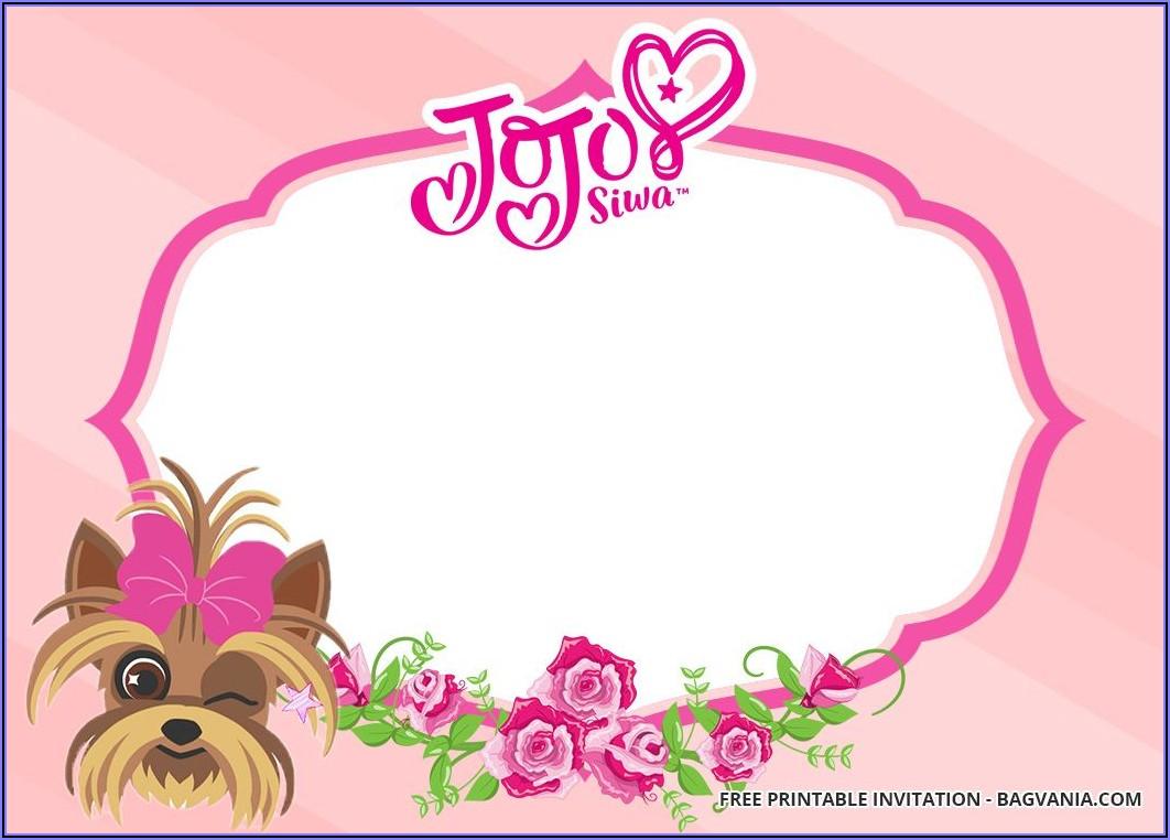Jojo Siwa Invitations Templates