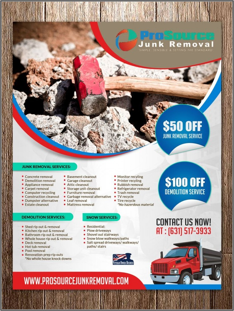 Junk Removal Flyer Template