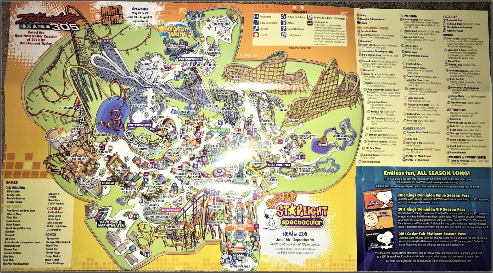 Kings Dominion Haunt Map 2019