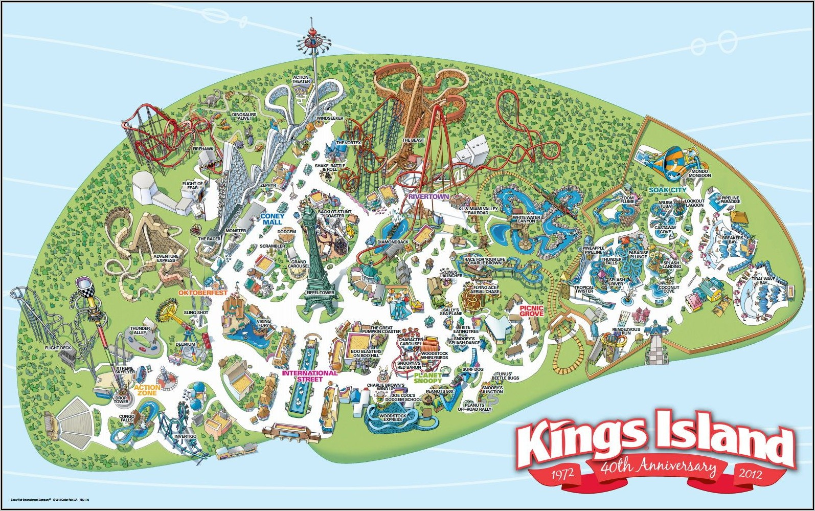 Kings Dominion Map 2018