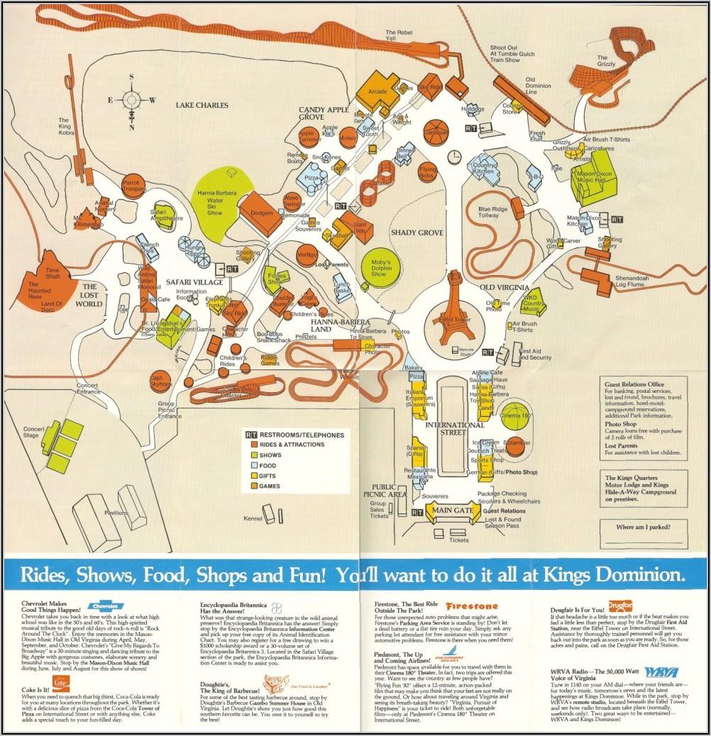Kings Dominion Map Va
