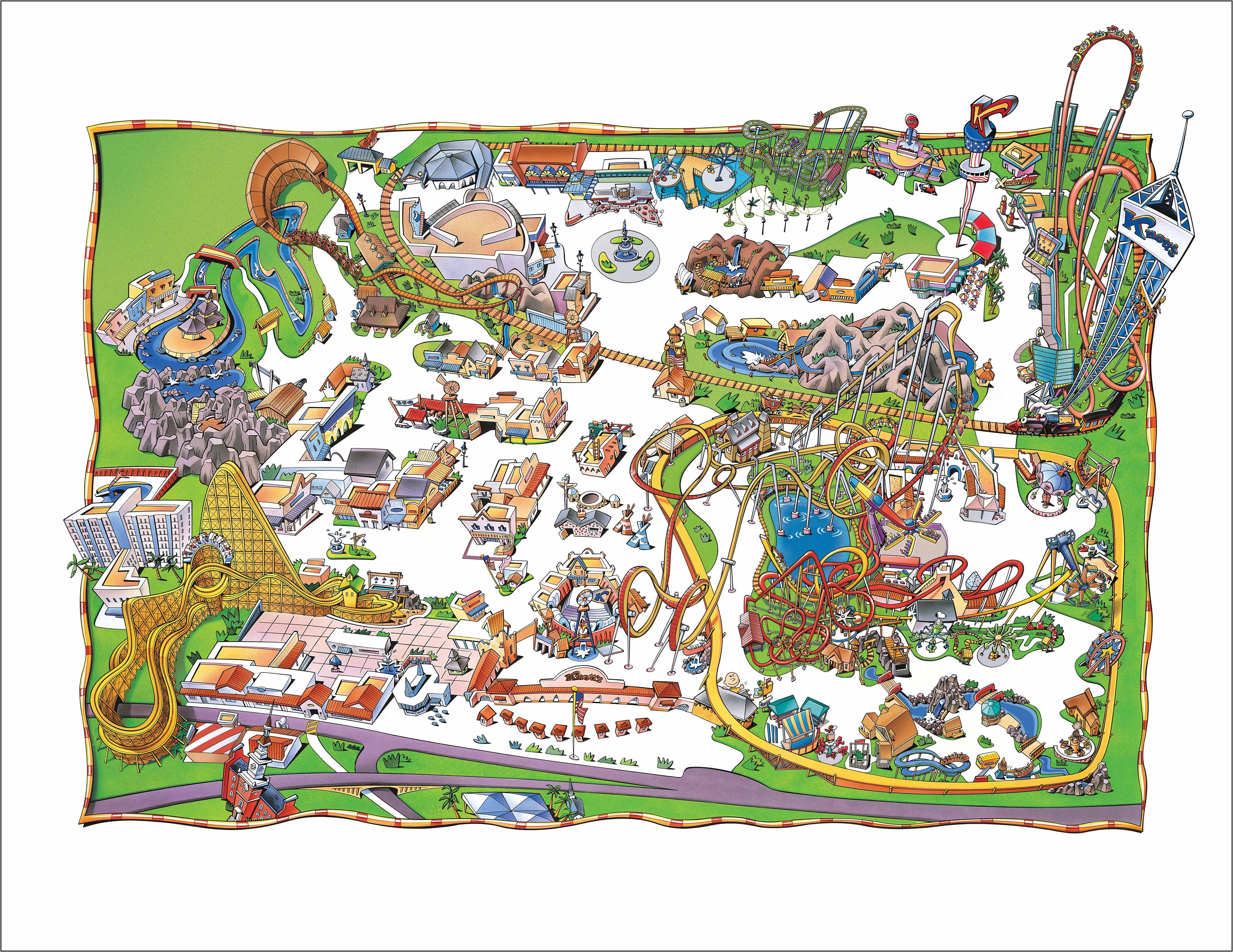 Knott's Berry Farm Map 1999