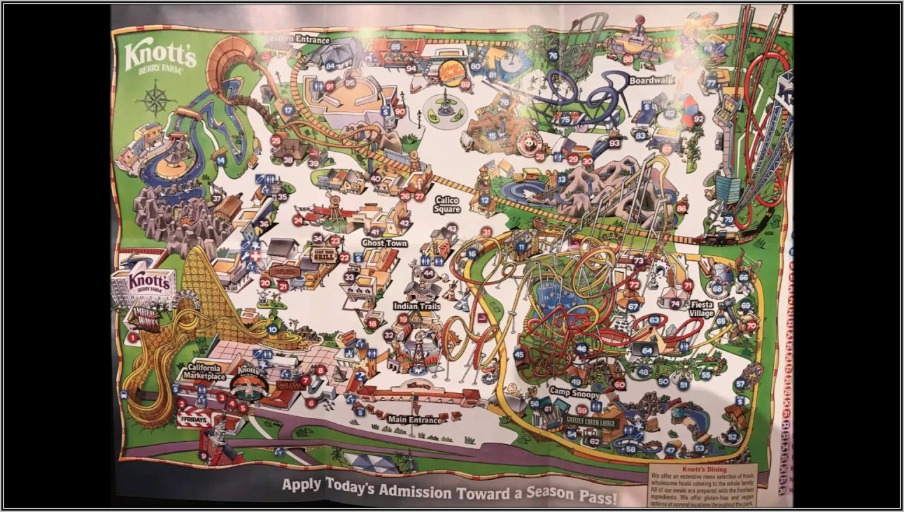 Knott's Berry Farm Map 2020