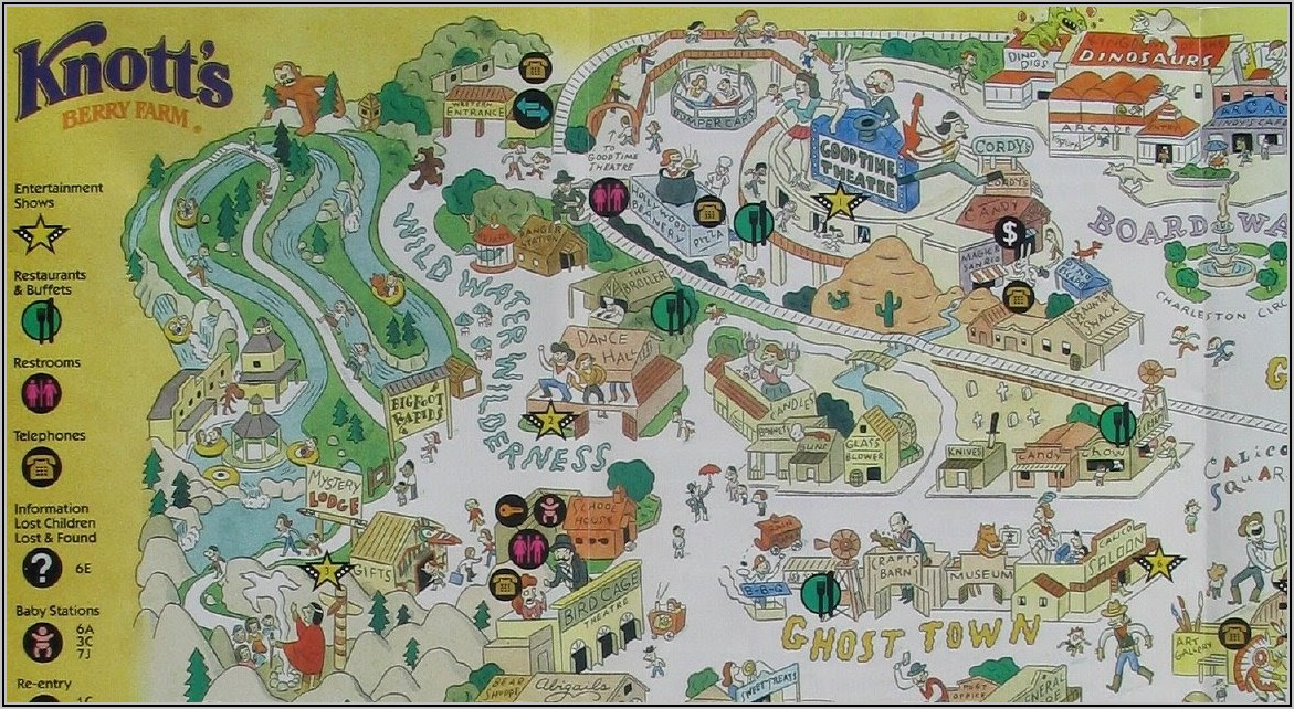 Knott's Berry Farm Rides Map