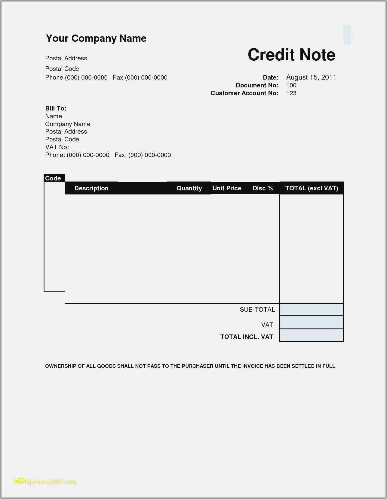 Landscape Maintenance Invoice Template