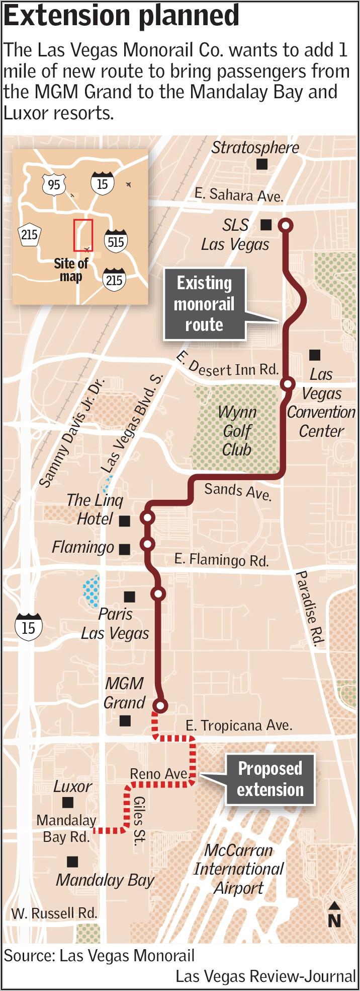 Las Vegas Monorail Map 2019