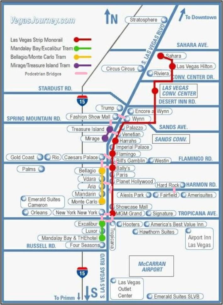 Las Vegas Monorail Routes