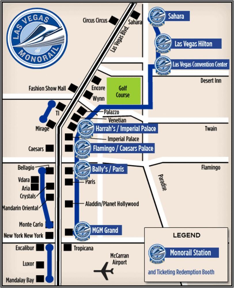 Las Vegas Tram Map 2020