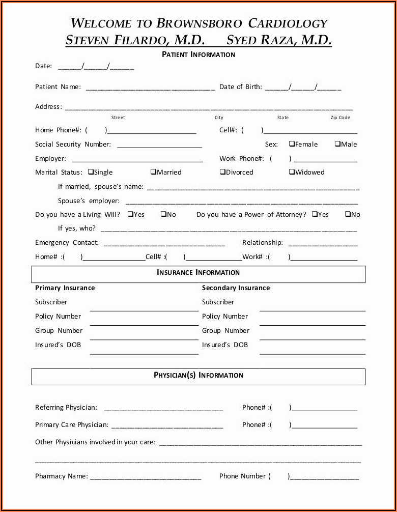 Law Firm Client Intake Form Sample