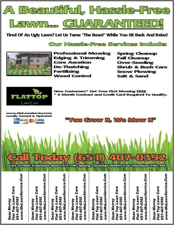 Lawn Mowing Flyer Template Free