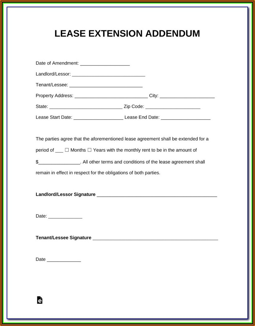 Lease Renewal Agreement Example