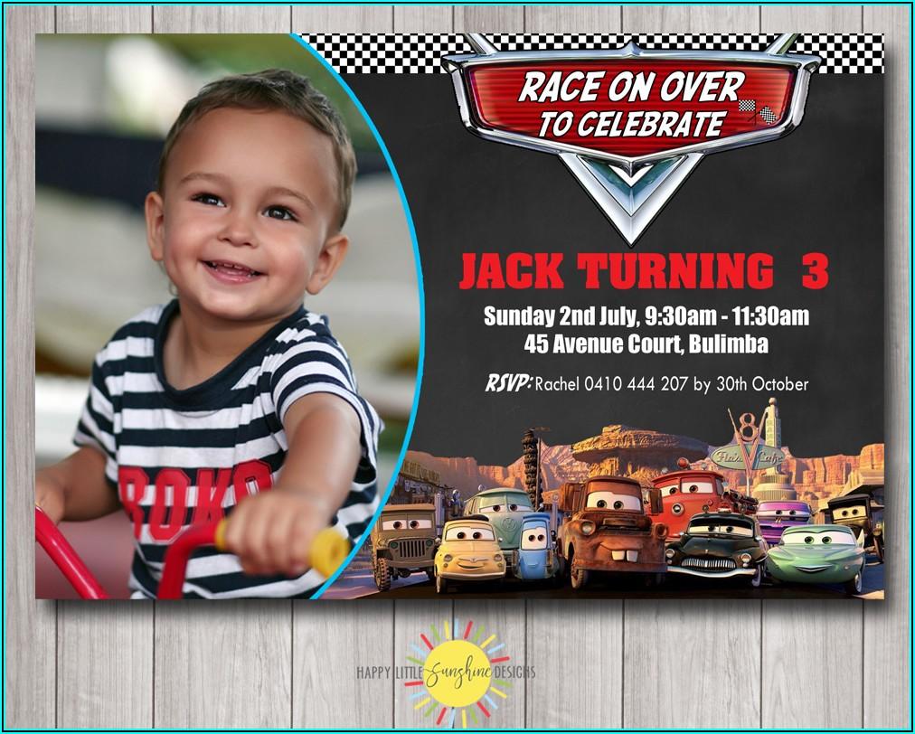 Lightning Mcqueen Birthday Invitations Australia