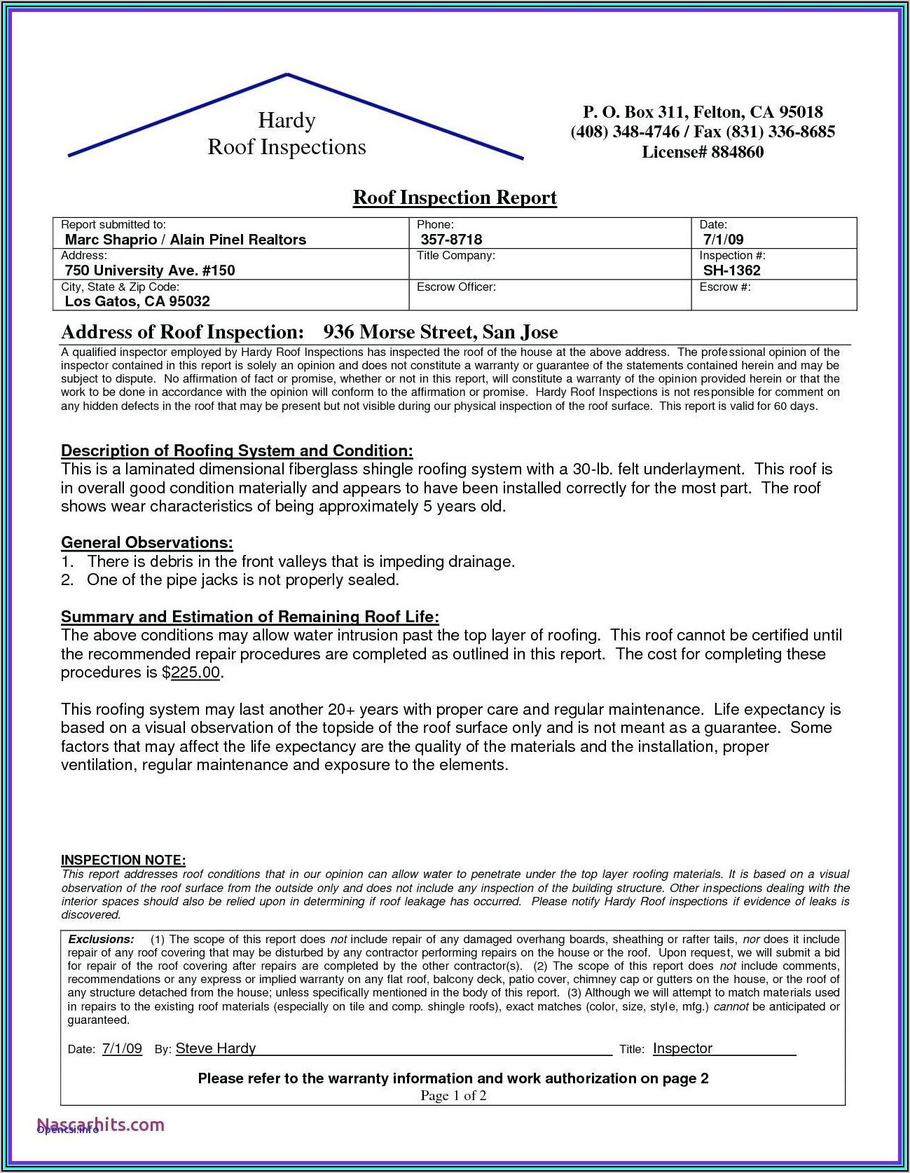 Maintenance Service Report Template Word