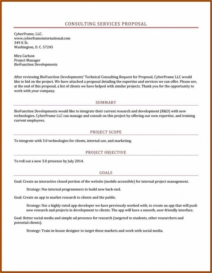 Management Consulting Services Proposal Template