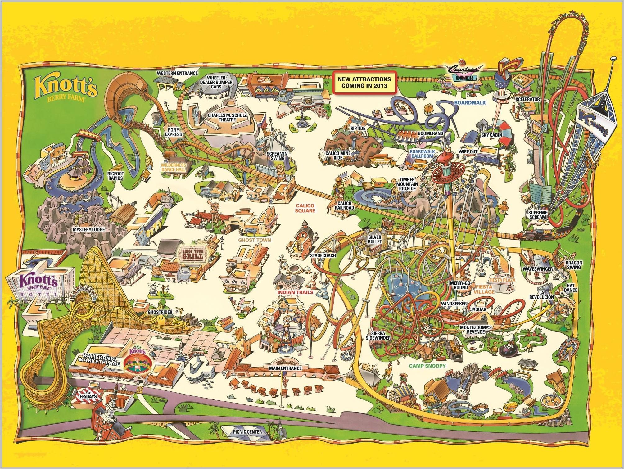 Map Of Knott's Berry Farm Buena Park