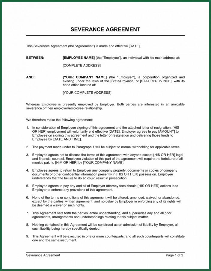 Marital Separation Agreement Form Nc