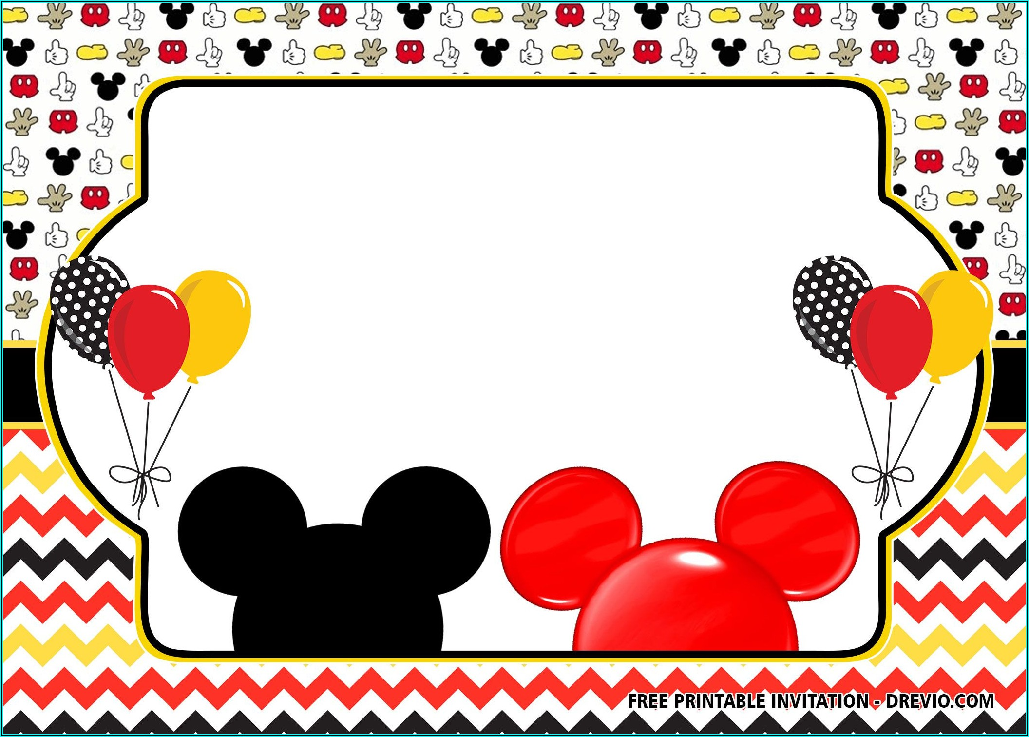 Mickey Minnie Mouse Invitations Free