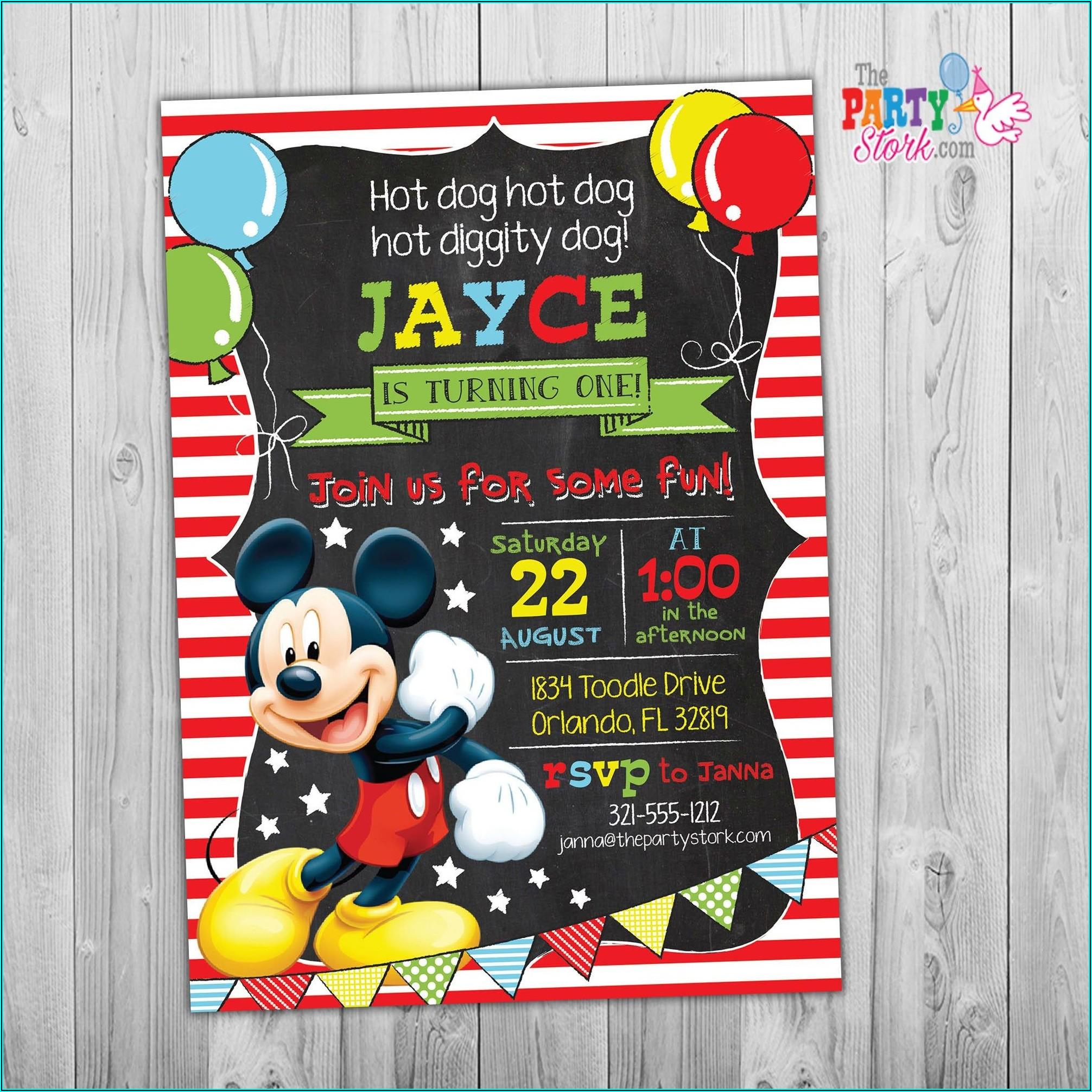 Mickey Mouse 2 Birthday Invitations