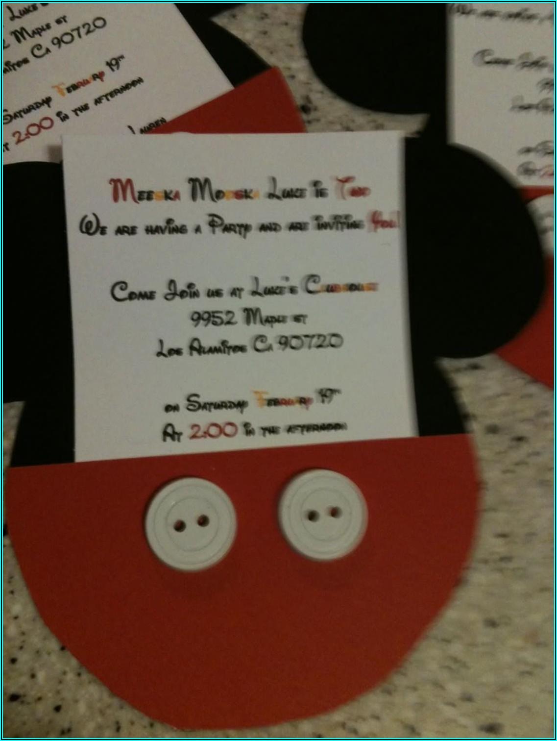 Mickey Mouse 2nd Birthday Invitations Etsy